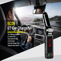 Mini Portable Mp3 Bluetooth Car Kit FM Transmitter LCD USB Charger Handsfree For iPhone for Sansung