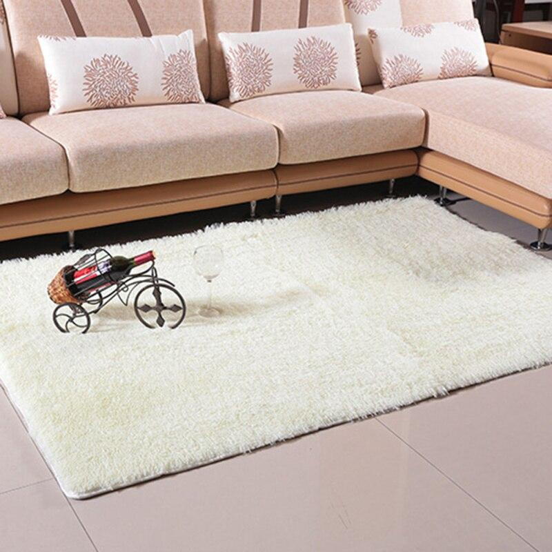 Large Size Anti Skid Solid Carpet Plush Shaggy Rug Fluffy Blanket Soft  Floor Mat Home