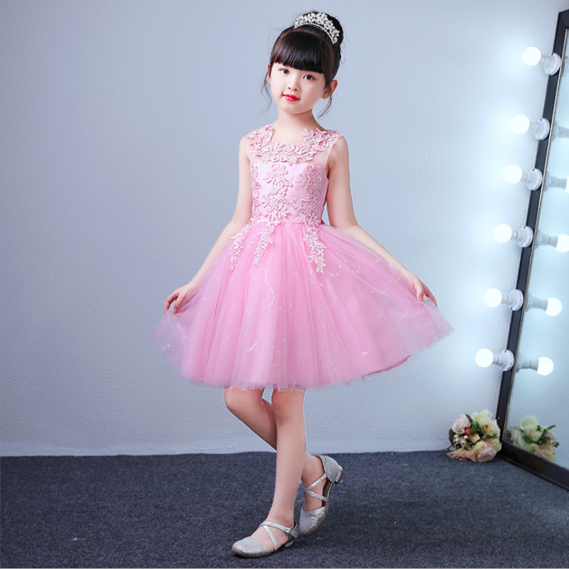 it's YiiYa   Flower     Girl     Dress   for Wedding N Kid Party Lace   Flower   Takedown Bow Comunion   Dress   Cotton Lining Ball Gown 2019 BX2803