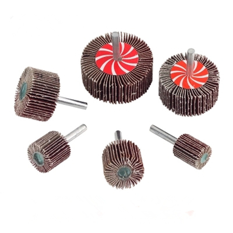 6mm Shank Abrasive Flap Sanding Wheels For Metal Sanding Polishing 30 PCS  Diameter 40/50/60mm Free Shipping