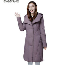 New Women Jacket Long Down Cotton Winter Outerwear Hoody High-end Thick Warm Parka Fashion Big Yards Leisure Female Coat A0030