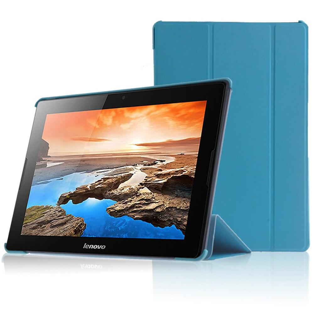 Tablet Case for Lenovo A7600 PU Leather Tri-folding Folding
