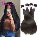 7A Brazilian Straight Hair 4 Bundles Queen Hair Products 100% Natural Human Hair Extensions Mink Brazilian Virgin Hair Straight