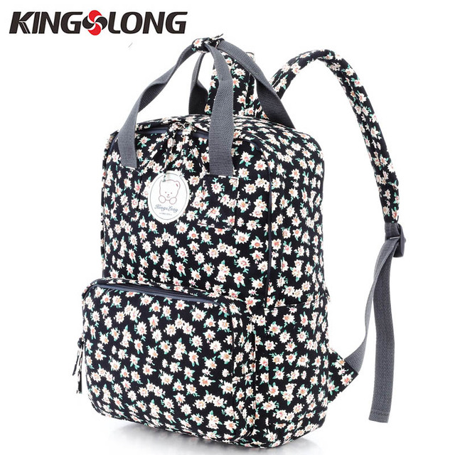 92826662a814 KINGSLONG Printing Cotton Backpacks School Backpacks for Teenage Girls 14 Inch  Laptop Backpack Bags for Teenagers KLB1310661-7