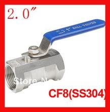 Бесплатная доставка новое поступление 2.0 » CF8 1 шт. шаровой кран, Одна часть с внутренней резьбой клапан для воды, Нефть и газ