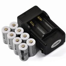 8PCS CR123A 16340 Battery 2200mAh 3.7V Li-ion Rechargeable Battery+1634