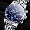 GUANQIN Men's Watch Fashion Business Black Light Stainless Steel Multifunction Waterpoof Relogio Masculino 2017 Male Clock Hour