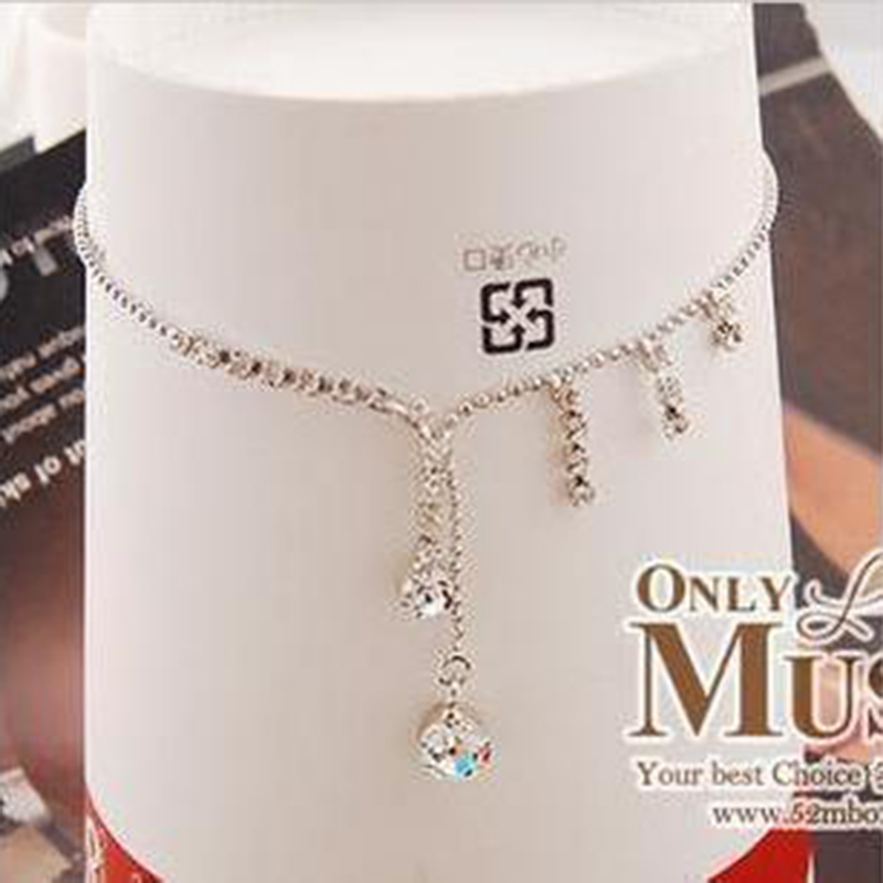 Accessories sparkling hot-selling claw chain cool drop tassel  anklets female A001