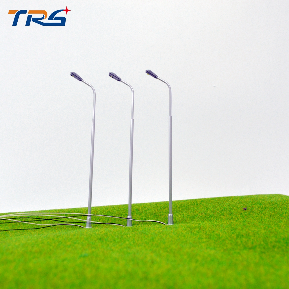 Scale 1/150 model Metal copper Streets Lamp LED architectural Modelmaking Lamppost Model Railway Street Lighting