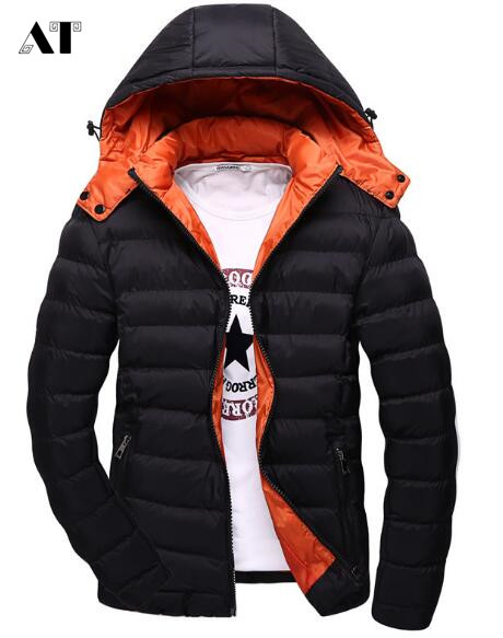 Winter Thick Warm Male Jackets Parka Hooded Casual Wadded Outerwear Fashion  Men Jacket Coat