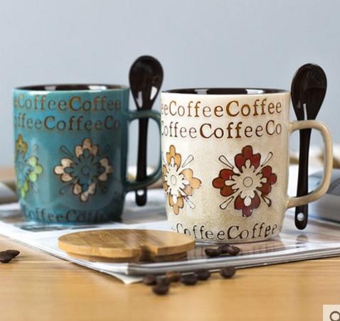 novelty Milk Juice Lemon Mug High Capacity Ceramic Cups Creative Coffee Milk Tea Mugs Spoon Set Birthday Gift Drop Shipping