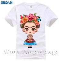 Hot Sale Cartoon Mexican Frida Kahlo T Shirt Short Sleeve Men T Shirt