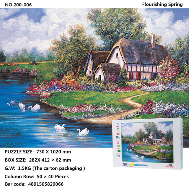 World Watercolor Oil Painting Puzzle 2000 Adult Cartoon Children s Educational Toys Decompression Custom Gift