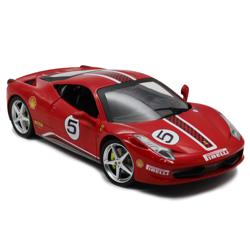 Sale 1: 24 Alloy Car, High Simulation 458 Supercar Chinese