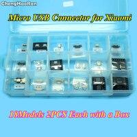 ChengHaoRan Micro USB Jack Connector Port For Xiaomi 2A 2S 3 4 4C 4S 5 5S 5 Mix Max 5 5sPlus Redmi 1S 2 3 3S Note 3G 4G 2 3 4