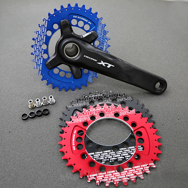CNC Fouriers Oval Chainrings Narrow Wide Teeth Chain rings BCD 96mm for M9000 M9020 11 Speed P.A.T Wave Chainwheel