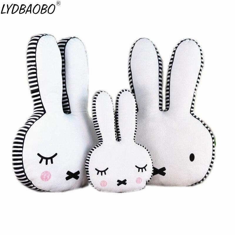 LYDBAOBO 1PC 40/65CM Lovely Soft Doll Rabbit Pillow Cushion Plush Stuffed Animals Doll Kids Bed Decoration Child Birthday Gifts