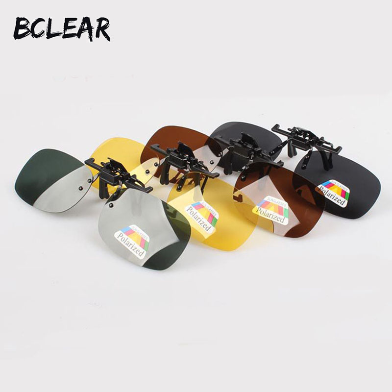 BCLEAR Polarized Lenses Flip Up Clip On Sunglasses Driving Glasses Night Vision For Men Women High Quality Polarization Lens