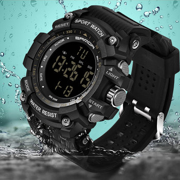 Sanda Militar. Sport reloj hombres Top marca de lujo reloj electrónico LED Digital  relojes para hombre reloj Relogio Masculino d79a6e362655
