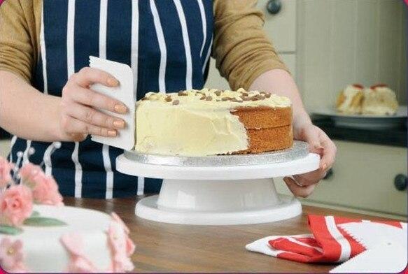 Livraison Gratuite Tournant 28 cm * 7 cm Table pour Décoration De Gâteaux Gâteau Renouvelable Stand + Un Anti-Slip anneau