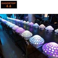 をfreeshipping 10ピース/ロットdmx512ディスコdj舞台照明デジタルledのrgbクリスタルマジックボールエフェクトライト6ピース* 3ワットdmxディスコTP-E12