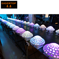 Freeshipping 10 stücke/lot DMX512 Disco DJ Bühnen Beleuchtung Digitale LED RGB Kristall Magic Ball Effekt Licht 6 stücke * 3 watt DMX Disco TP-E12