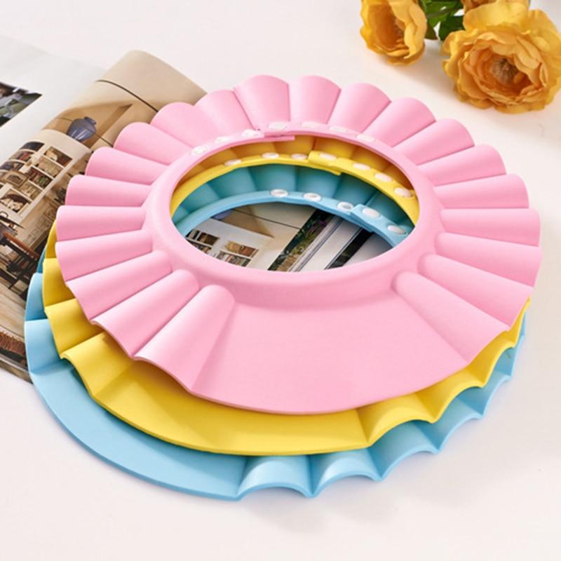 Creative Safe Shampoo Kid Shower Cap Bathing Bath Protect Soft Cap Hat For Baby Children Kids Free Shipping