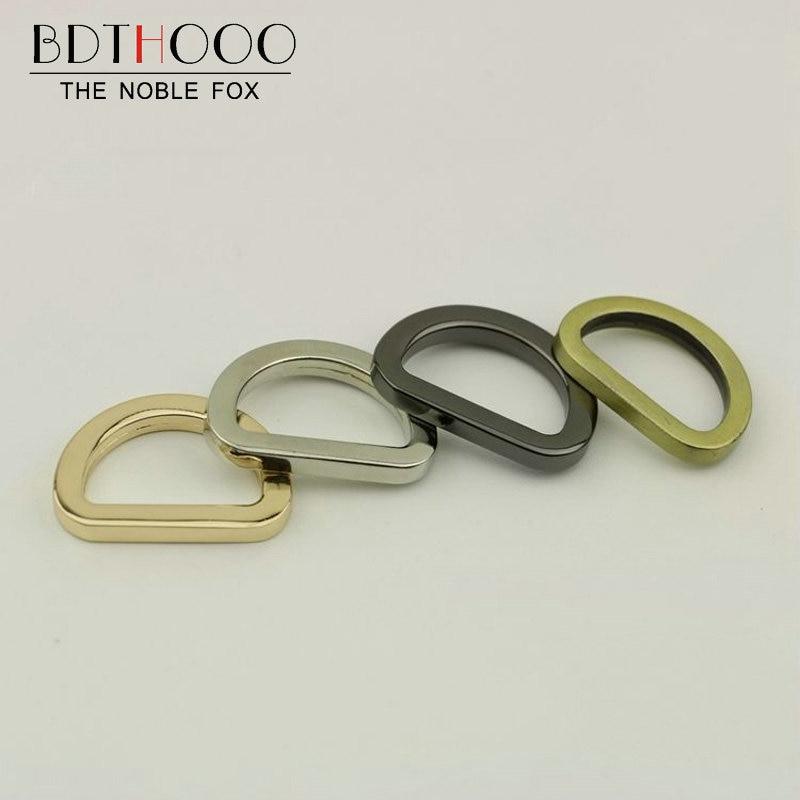 BDTHOOO 10pcs Inner Diameter 20mm Metal D Buckle Clasp Zinc Alloy For DIY Decoration Buckle Women Handbag Bag Hardware Accessory