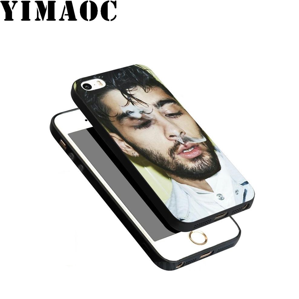 YIMAOC Zayn malik 1D Soft TPU Black Silicone Case for iPhone X or 10 8 7 6 6S Plus 5 5S SE