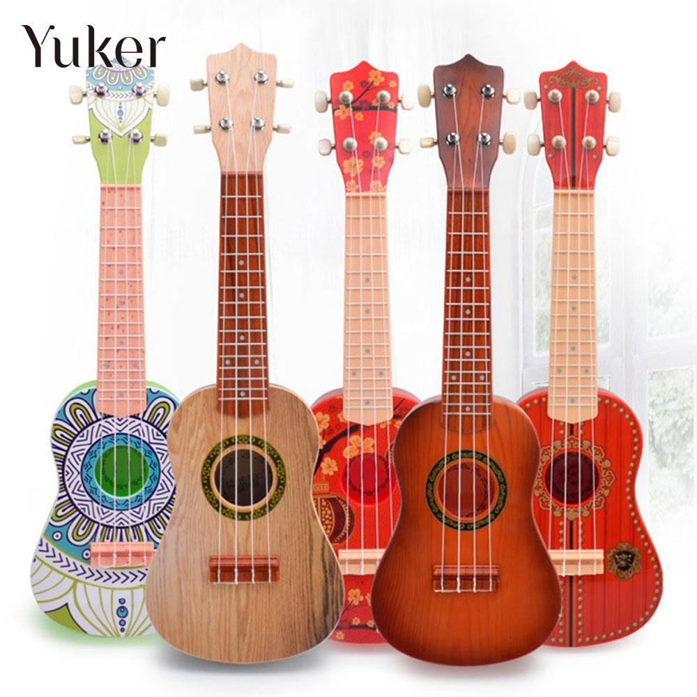 21 Inches Plastic Ukulele Beginners Guitar Toy Learning Musical Instruments Fun Ukulele New Year Gift Guitar Accessories