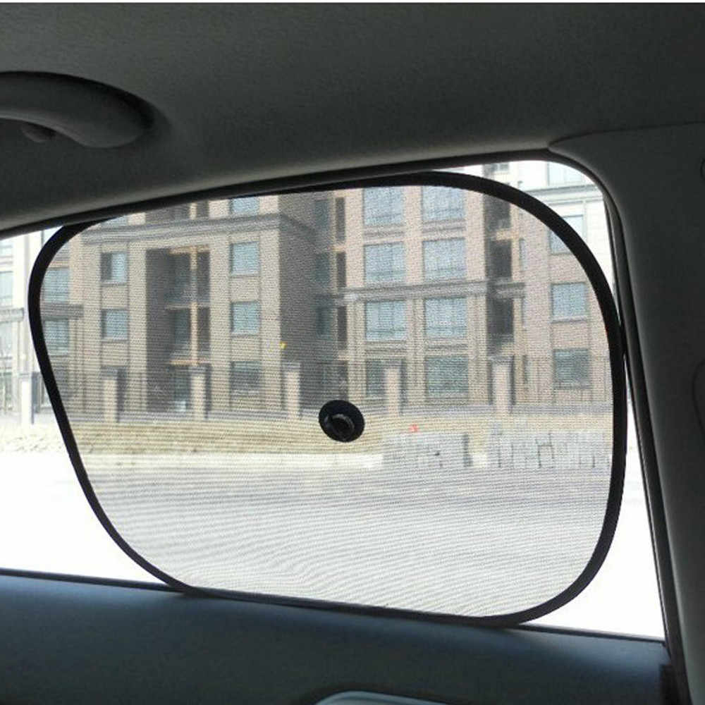 2x สีดำเด็กทารกรถหน้าต่าง UV ป้องกันตาบอดตาข่าย Parasol Coche Sun Shades Twin รถหน้าต่างบังแดดรถอุปกรณ์เสริม