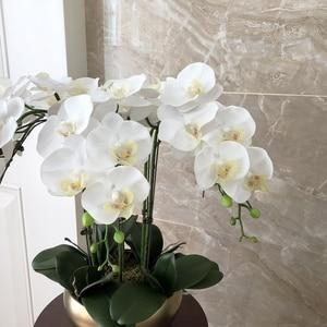 Image 2 - 1 Set di Alta Qualità Orchidee Disposizione In Lattice Del Silicone Reale di Tocco di Lusso Grande Formato Da Tavolo Fiore Casa Albergo Decor No Vaso
