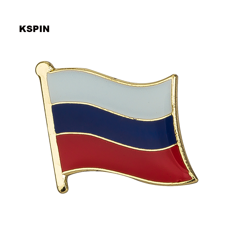 Home & Garden Metal Badges Canada Russia Flag Badges Icon Bag Decoration Buttons Brooch For Clothes Ks2054