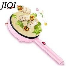 JIQI электрическая блинница для пиццы, блинная машина с антипригарным покрытием, сковорода для выпечки, машина для выпечки тортов, кухонные инструменты для приготовления пищи, 220 В, розовый, ЕС, США