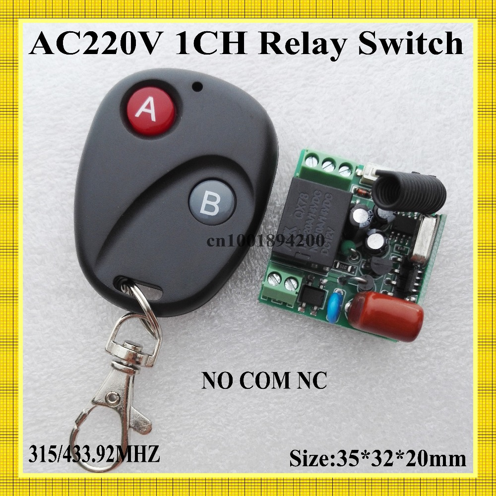 AC220V Mini Relay Receiver NO COM NC Normally Open Closed RF Switching Value Wireless Light Lamp LED Remote Switch 315/433 RXTX the proximity switch tl n15my2 normally closed ac two wire 220v 15mm
