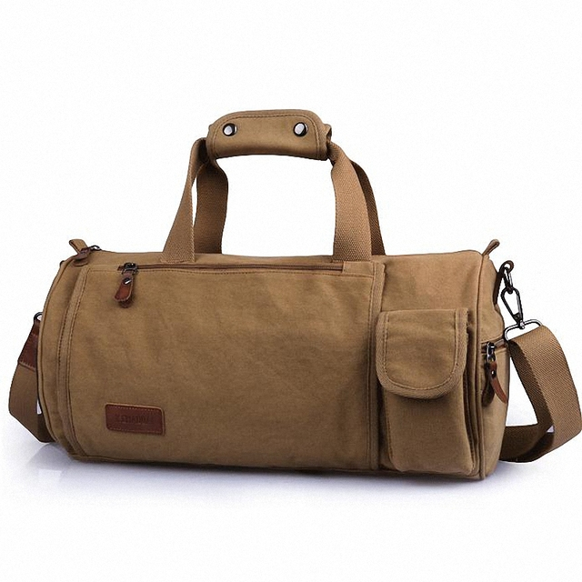 Men and women's travel duffle canvas Travel bag male casual luggage bags large thicken canvas tote shoulder bags men LI-1086