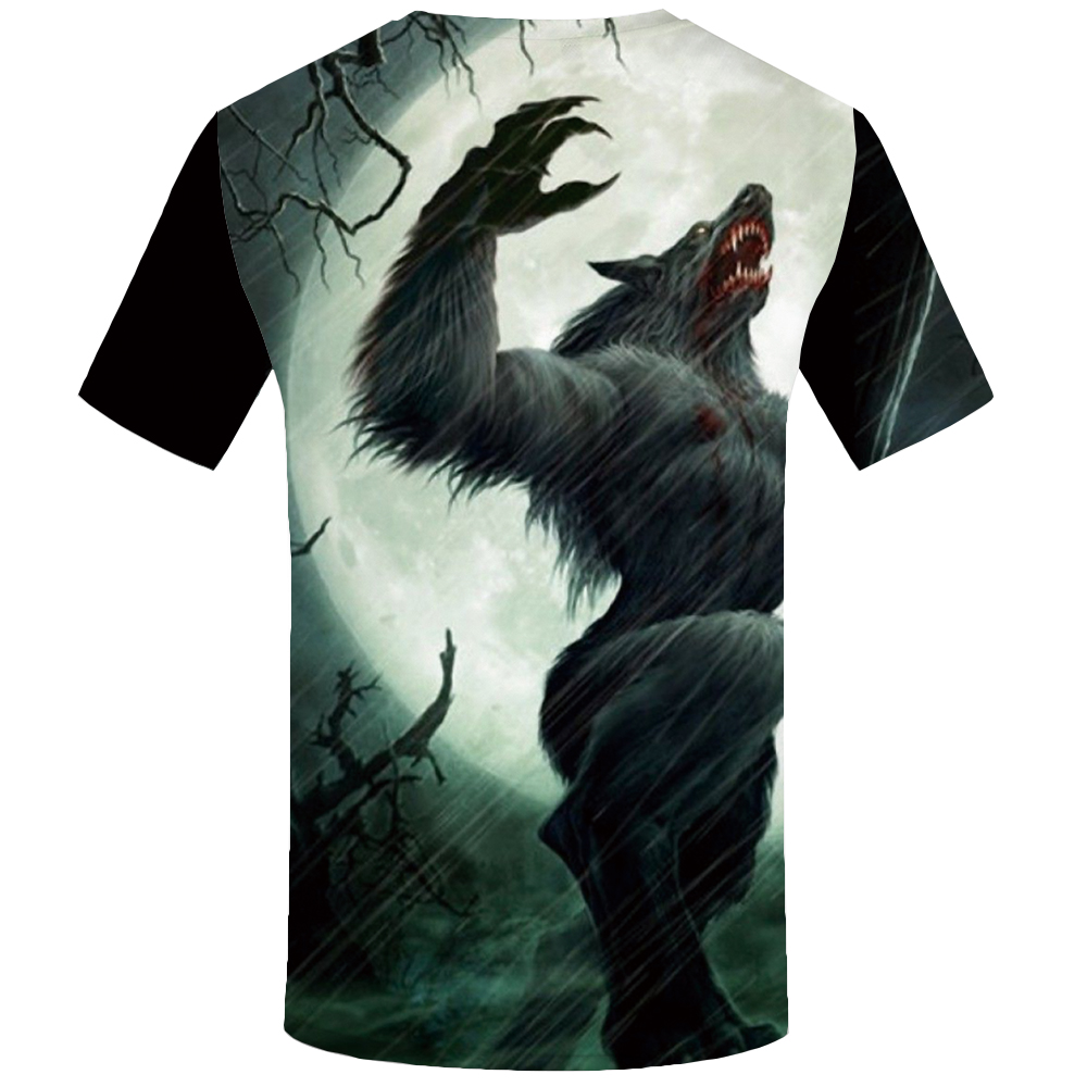 KYKU Wolf T Shirt Men Animal Tshirt Anime Clothes Magic 3d Print T-Shirt Hip Hop Tee Cool Mens Clothing 2019 New Summer Tops
