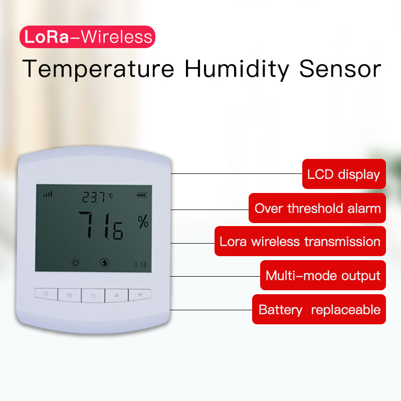 Image 2 - Lora temperature humidity sensor 5km long range temperature humidity transmitter wireless humidity monitoring LCD display-in Communications Parts from Cellphones & Telecommunications