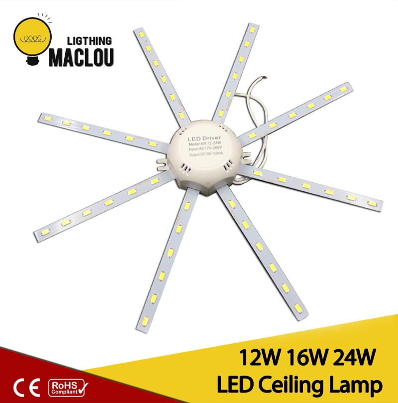 24 Leds 5730 SMD LED Ceiling Lamp Cold White High Bright 12W 16W 24W Board LED Octopus Round Ampoule LED Light Lamparas De Techo mlsled mls xd32 16w 16w 1100lm 160 smd 3014 led white ceiling light white 100 240v