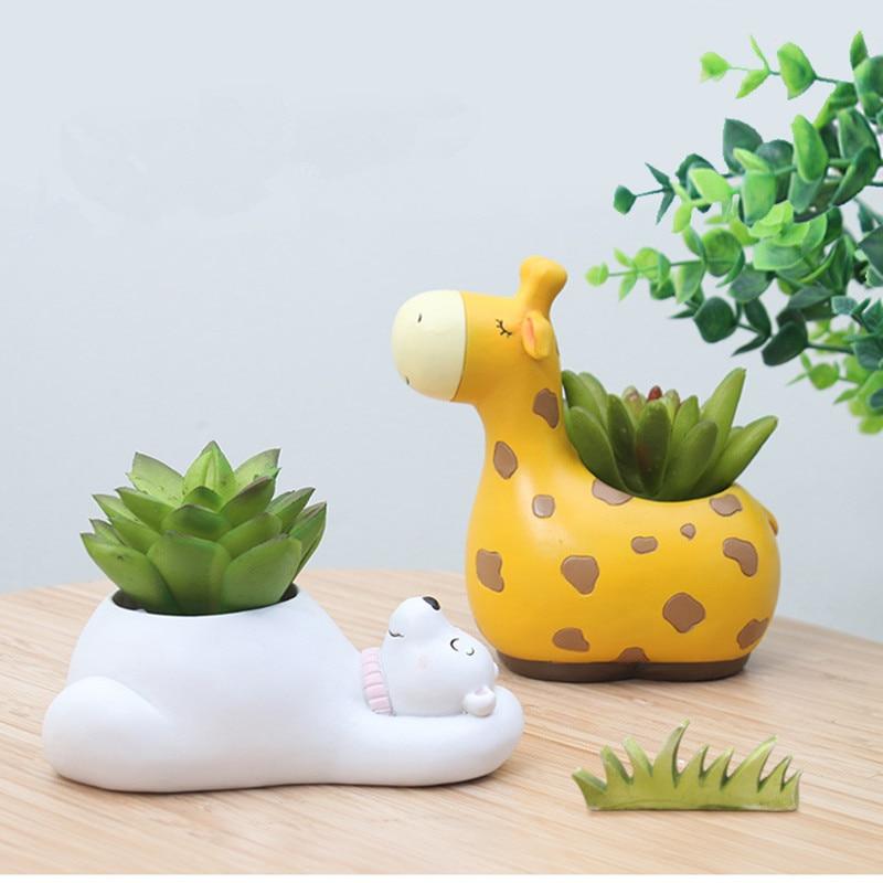 Cute Animal Succulent Flower Planter Flowerpot Plant Pot Vase Home Decoration