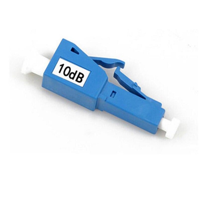 ZHWCOMM 10PCS LC UPC 10bd Simplex mode fiber optic Attenuator LC 10dB metal male Fiber Attenuator