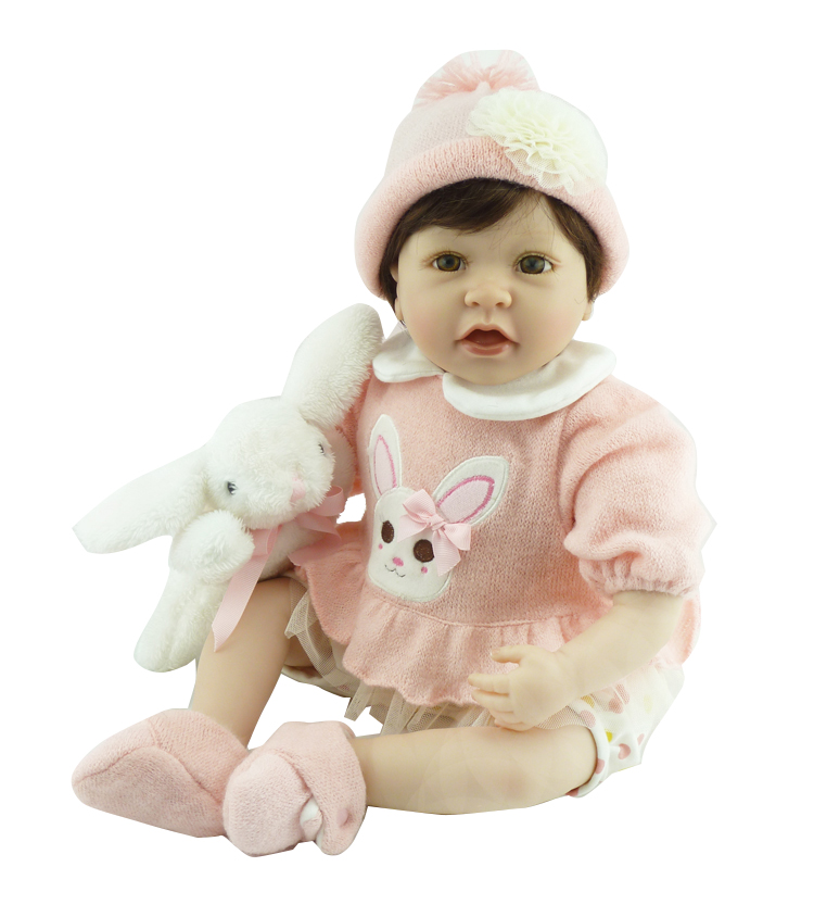 22 Inch 55cm Silicone Reborn Dolls Babies Real Sleeping Reborn Baby Soft Cotton Body Bonecas Children Toys Brinquedos Menina 18 inch 42cm reborn babies dolls toys hand crocheted clothes soft silicone realistic handmade baby bonecas reborn brinquedos