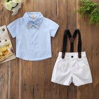 2019 baby summer clothes O Neck t shirt Baby Boy Girl Short Sleeve T shirt Tops+Shorts Set Outfit