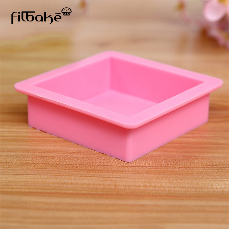 FIBAKE Square Silicone Cake Mold For Mousses Ice Cream Chiffon Cakes Baking Pan Cake Decorating Tools Accessories Bakeware