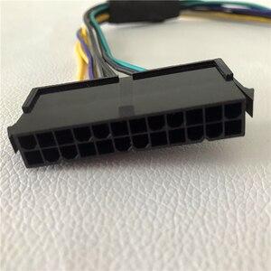 Image 4 - Оптовая продажа 100 шт/партия ATX 24Pin мама для DELL Optiplex 3020 7020 9020 T1700 Серверная материнская плата 8Pin Мужской кабель питания 30 см