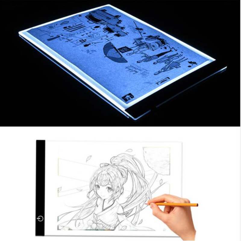 Dimmable LED Graphic Tablet Writing Painting Light Box Tracing Board Copy Pads Digital Drawing Tablet Artcraft A4 Copy Table