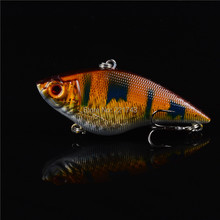 1PCS 16G Hard VIB Lures 7CM Fishing Bait Treble Hooks Sinking Crankbait Fishing Tackle