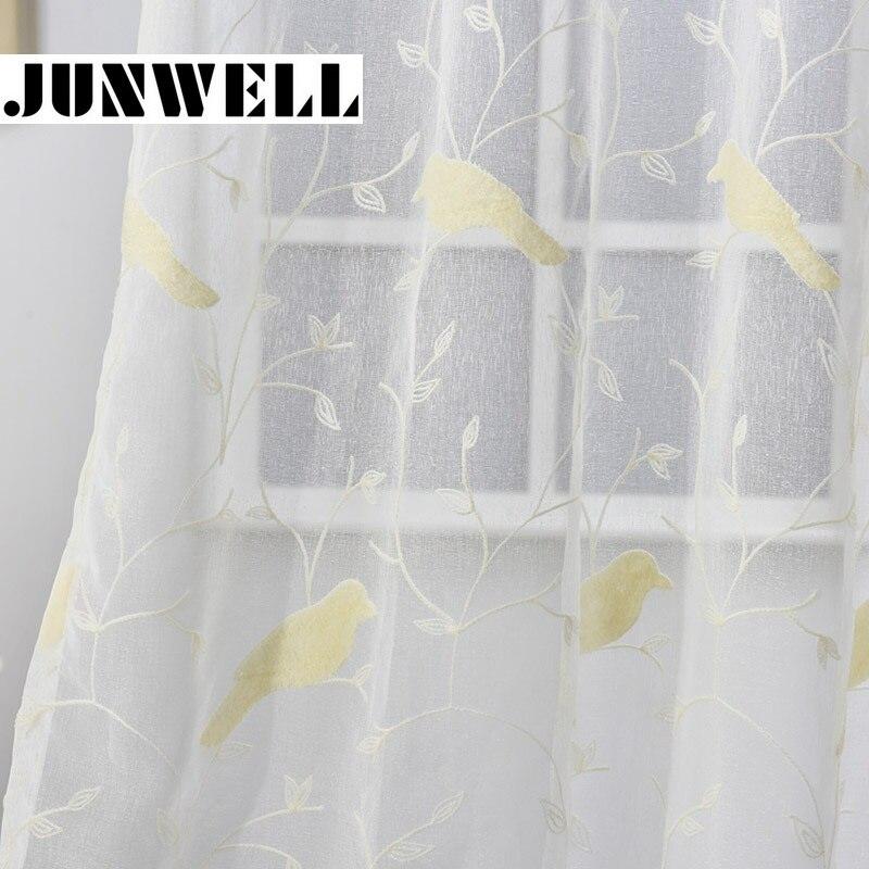 100% Polyester Voile 3d Borduurwerk Gordijn Thuis Wave Europese Woonkamer Balkon Voile Chain Stitch Panel 1 St