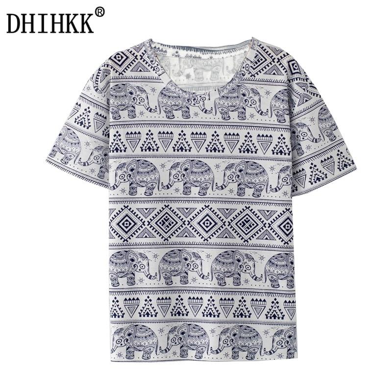 2017 new fashion harajuku elephant print t shirt women for Elephant t shirt women s