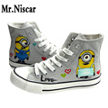Despicable Me Graffiti Casual Shoes Men Cartoon Character Minions Valentine Couple Shoe Cute Minion Four Seasons Shoes